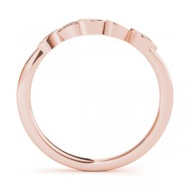 Floral Diamond Wedding Ring Band 18k Rose Gold (0.05ct)|escape