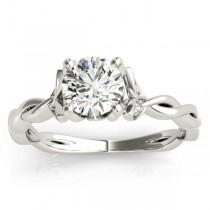 Infinity Leaf Engagement Ring Platinum (0.07ct)