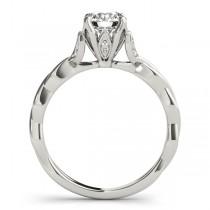 Infinity Leaf Bridal Ring Set Platinum (0.32ct)