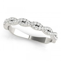 Infinity Diamond Stackable Ring Band 14k White Gold (0.25ct)