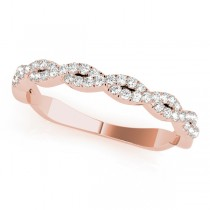 Infinity Diamond Stackable Ring Band 18k Rose Gold (0.25ct)