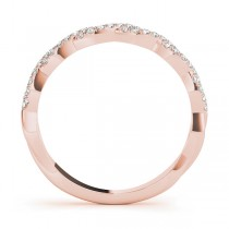 Infinity Diamond Stackable Ring Band 18k Rose Gold (0.25ct)|escape