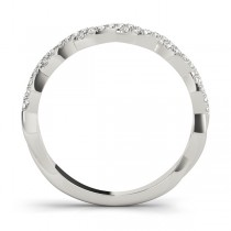 Infinity Diamond Stackable Ring Band 18k White Gold (0.25ct)