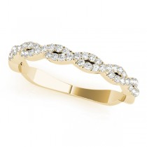 Infinity Diamond Stackable Ring Band 18k Yellow Gold (0.25ct)