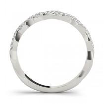 Infinity Diamond Stackable Ring Band Palladium (0.25ct)