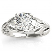 Nature Inspired Diamond Engagement Ring Setting 14k White Gold(0.16ct)
