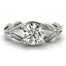 Nature Inspired Diamond Engagement Ring Setting 14k White Gold(0.16ct)|escape