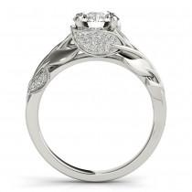 Nature-Inspired Diamond Engagement Ring Setting 14k White Gold (0.16ct)