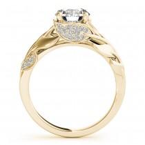 Nature-Inspired Diamond Engagement Ring Setting 14k Rose Gold (0.16ct)