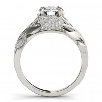 Nature Inspired Diamond Bridal Set 14k White Gold (0.19ct)|escape
