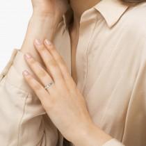 Nature-Inspired Diamond Leaf Wedding Band Platinum (0.03ct)