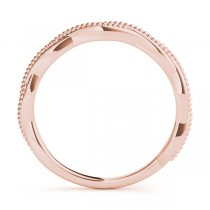 Twisted Infinity Stackable Ring Wedding Band 14k Rose Gold|escape