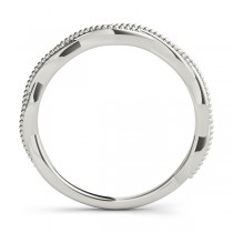 Twisted Infinity Stackable Ring Wedding Band 14k White Gold