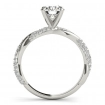 Vine Leaf Infinity Diamond Bridal Set 14k White Gold (0.80 ct)|escape