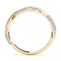Infinity Twist Diamond Bridal Ring Set Setting 14k Yellow Gold (0.80 ct)