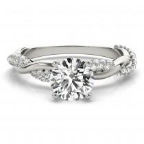 Infinity Twist Diamond Bridal Ring Set Setting Platinum (0.80 ct)