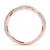 Infinity Twist Diamond Wedding Ring Band 14k Rose Gold (0.40 ct)