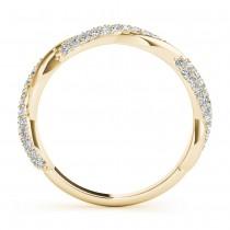 Infinity Twist Diamond Wedding Ring Band 18k Yellow Gold (0.40 ct)