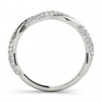 Infinity Twist Diamond Wedding Ring Band Platinum (0.40 ct)