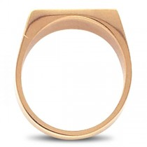 Men's Signet Ring Rectangular Shaped, Engravable in 14k Rose Gold