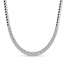 Diamond Graduated Tennis Necklace 14k White Gold (5.00ct)