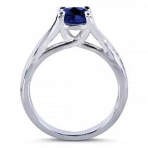 Blue Sapphire & Diamond 3-Piece Bridal Set in 14k White Gold (1.95ct)