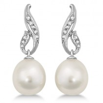 Paspaley South Sea Cultured Pearl and Diamond Drop Earrings (12mm)