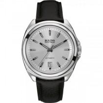 Men's Bulova Watch Stainless Steel Automatic AccuSwiss w/ Blue Dial