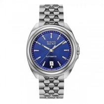 Men's Bulova Watch Stainless Steel Automatic AccuSwiss w/ Blue Dial