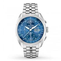 Men's Bulova Watch Stainless Steel AccuSwiss Automatic w/ Blue Dial