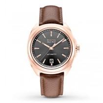 Men's Bulova Watch Brown Leather Automatic AccuSwiss w/ Black Dial