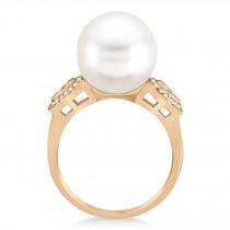 South Sea Pearl & Diamond Ring 14k Rose Gold (12.00mm)|escape