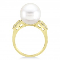 South Sea Pearl & Diamond Ring 14k Yellow Gold (12.00mm)|escape