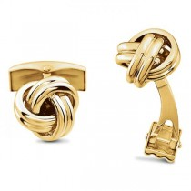 Men's Love Knots Cufflinks in Solid 14k Yellow Gold