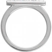 Women's Fashion Bar Ring with Diamonds 14k White Gold (0.10ct)