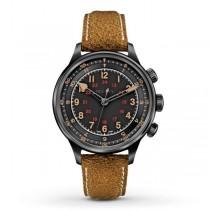 Men's Bulova AccuSwiss Automatic Watch w/ Black Dial & Brown Leather
