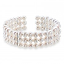Pearl Cuff Bracelet 925 Sterling Silver (5.0-6.0 mm)|escape