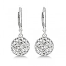 Antique Style Designer Diamond Earrings Sterling Silver (0.10ct)|escape