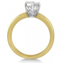 Round Solitaire Moissanite Engagement Ring 14K Yellow Gold 1.50ctw