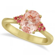 Floral Pink Tourmaline & Morganite Ring in 14k Yellow Gold (1.98ct)