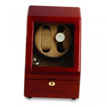 Collectors Wooden Double Watch Winder & Watch Box Display Case