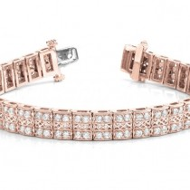 Diamond Multi-Row Link Bracelet 18k Rose Gold (1.98ct)|escape