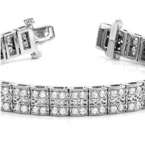 Diamond Multi-Row Link Bracelet 18k White Gold (1.98ct)