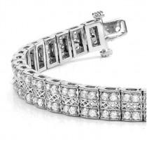 Diamond Multi-Row Link Bracelet 18k White Gold (1.98ct)