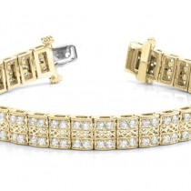 Diamond Multi-Row Link Bracelet 18k Yellow Gold (1.98ct)