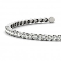 Diamond Open Cuff Bangle Tennis Bracelet 14k White Gold (1.05ct)