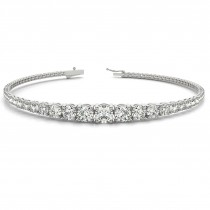 Graduated Diamond Tennis Bracelet 18k White Gold (2.94ct)