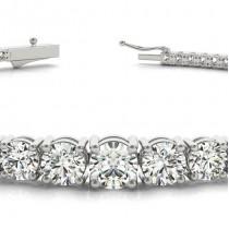 Graduated Diamond Tennis Bracelet 18k White Gold (2.94ct)