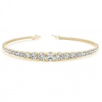 Graduated Diamond Tennis Bracelet 18k Yellow Gold (2.94ct)