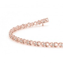 Diamond XOXO Bracelet 14k Rose Gold (0.29ct)